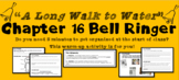 """A Long Walk to Water"" Chapter 16 Warm-Up Activity - Bell Ringer - PRINTABLE"