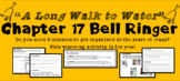 """A Long Walk to Water"" Chapter 17 Warm-Up Activity - Bell Ringer - PRINTABLE"