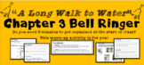 """A Long Walk to Water"" Chapter 3 Warm-Up Activity - Bell Ringer - PRINTABLE"