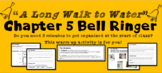 """A Long Walk to Water"" Chapter 5 Warm-Up Activity - Bell Ringer - PRINTABLE"