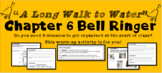 """A Long Walk to Water"" Chapter 6 Warm-Up Activity - Bell Ringer - PRINTABLE"
