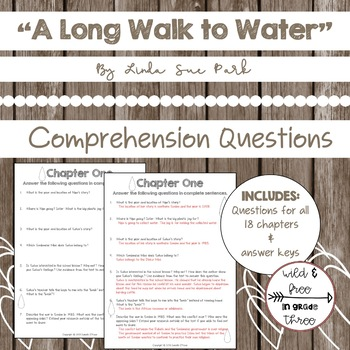 """A Long Walk to Water"" Comprehension Questions"