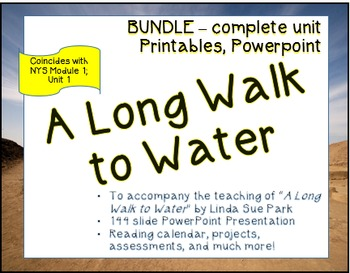 """""""A Long Walk to Water"""" Full Unit; coincides with Module 1; Unit 1 Grade 7 ELA"""