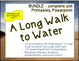 A Long Walk to Water - complete unit / bundle - hundreds of pages