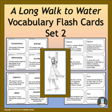 """""""A Long Walk to Water"""" Power Words Vocabulary Flashcards and Word Wall #2"""