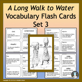 """""""A Long Walk to Water"""" Power Words Vocabulary Flashcards and Word Wall #3"""