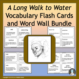 A Long Walk to Water Power Words Vocabulary Flashcards and Word Wall Bundle
