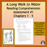 A Long Walk to Water Assessment 1 Chapters 1 to 5 w DIGITA
