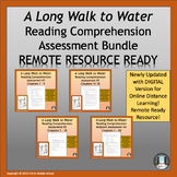 A Long Walk to Water Reading Comprehension Assessments Bundle
