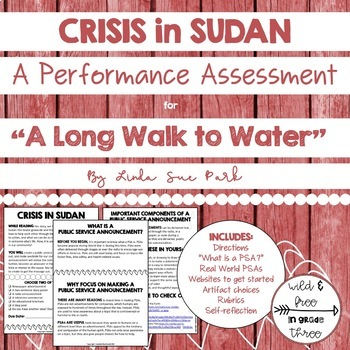"""""""A Long Walk to Water"""" Summative Authentic Performance Assessment"""