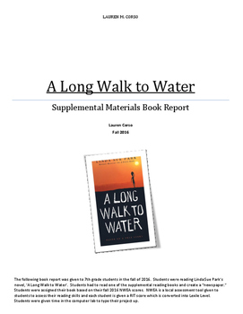 """A Long Walk to Water"" Supplemental Book Report"