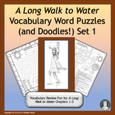 A Long Walk to Water Vocabulary Word Puzzles and Doodles Set 1