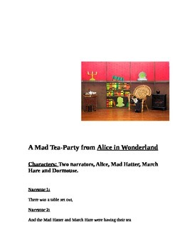 """""""A Mad Tea Party"""" Readers Theater Script"""