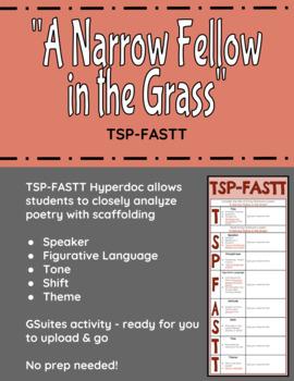 """""""A Narrow Fellow in the Grass"""" TSP-FASTT Close Analysis Hyperdoc"""