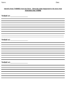 """""""A Night Divided"""" by Jennifer A. Nielsen Theme Worksheet"""