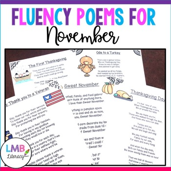 A Packet Of Poems-NOVEMBER-Fun November Poems in color and B&W