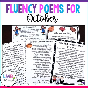"""""""A Packet Of Poems""""~ OCTOBER~Fun September Poems in color and B&W"""