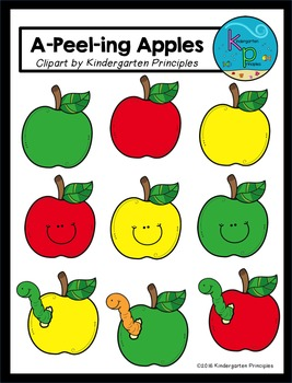 """A-Peel-ing Apples"" (FREE Apple Clipart)"