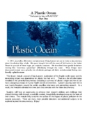 """""""A Plastic Ocean""""- Environmental and Marine Science Lesson"""