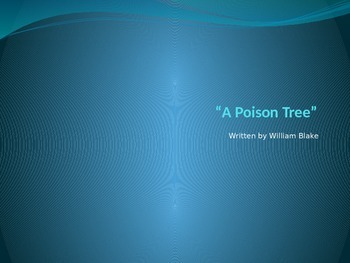 """""""A Poison Tree"""" PowerPoint Core Knowledge"""