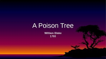"'A Poison Tree"" by William Blake"