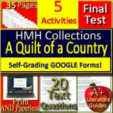 """""""A Quilt of a Country"""" 9th Grade HMH Collections 1 Activities- HRW"""