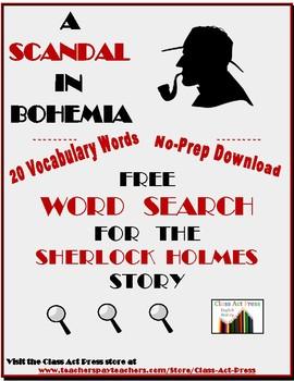 A Scandal in Bohemia: Sherlock Holmes Story Word Search FREE