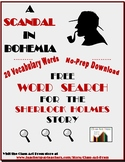 A Scandal in Bohemia: Sherlock Holmes Short Story Word Sea