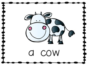Emergent Reader with Farm Animals and Sight Word A