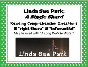 """A Single Shard"" Linda Sue Park; 30 Reading Comprehension Questions"