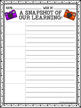 {EDITABLE} Weekly Learning Snapshots-Home Communication Forms
