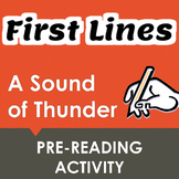 """A Sound of Thunder"" First Lines Pre-reading Activity"