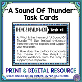 """A Sound of Thunder"" by Ray Bradbury Task Cards with EDITABLE Templates"