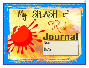 """A Splash of Red"" Journal Cover and Pages"