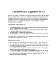 """A Trip to the Store"" -- Original Text and Articles Worksheet"