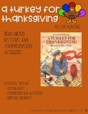 """""""A Turkey for Thanksgiving"""" Read Aloud Activities"""