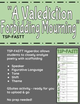 """A Valediction Forbidding Mourning"" TSP-FASTT Close Analysis Hyperdoc"