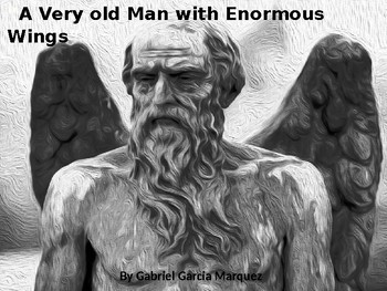 a very old man with enormous wings audio