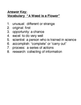 """A WEED IS A FLOWER"" (  Scott Forseman 2nd grade ) 2 activity pack"