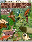 """A Walk in the Woods"" Cursive Penmanship A-Z"