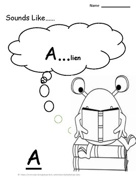 Alphabet Specialty: The Letter A  Alpha Pack Activities/worksheets