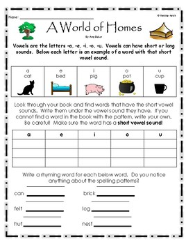 """""""A World of Homes"""" Guided Reading Program Activities"""