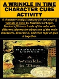 """A Wrinkle in Time"" Character Cube Activity"