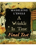 """A Wrinkle in Time"" Final Test (w/ Answer KEY)"