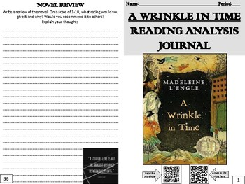 """""""A Wrinkle in Time"""" Reading Analysis Journal"""