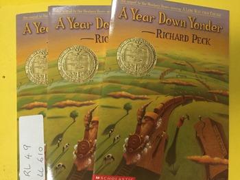 """A year down yonder"" books, by Peck - Literature Circle Set"