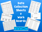 {ABA} Behavior Data Collection and Work Boards Pack! {Spec