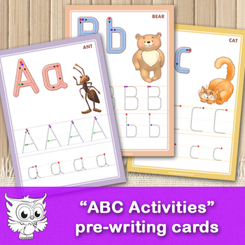 """""""ABC Activities"""" Tracing and Pen Control Alphabet Cards"""