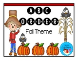 ABC Order Worksheets - Fall Theme