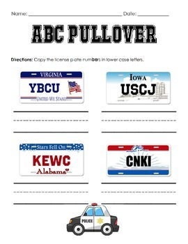 """ABC Pullover"" Letter Identification and Writing Practice"